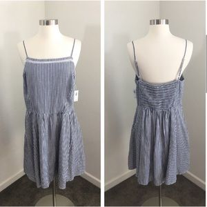 NEW Old Navy blue & white nautical striped dress